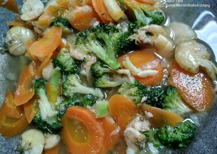 Tumis Wortel Brokoli Udang