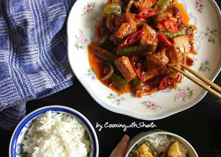 Resep Salmon Xo Sauce Oleh Cooking With Sheila Cookpad