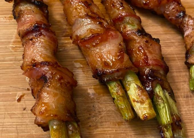 Bbq bacon wrapped asparagus
