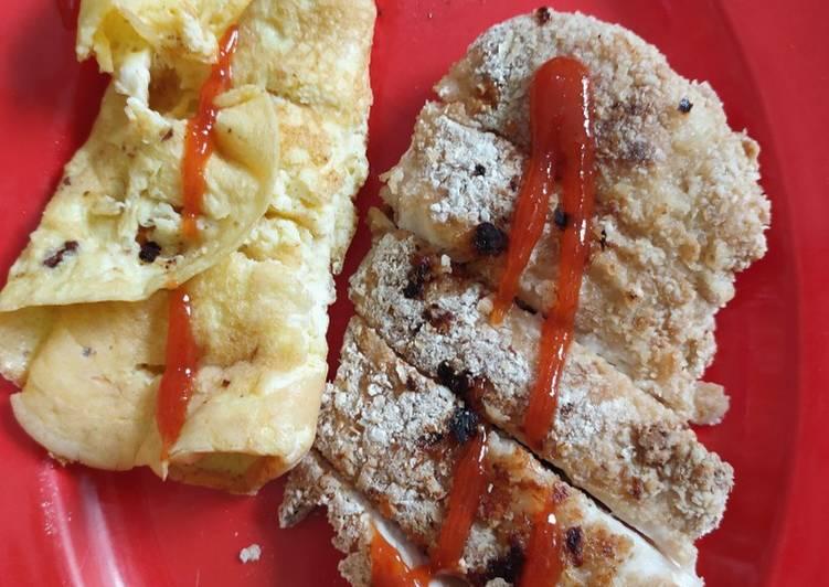 4. Chicken Katsu Oat #LowCal #AyamDiet #MenuDiet #IIFYM
