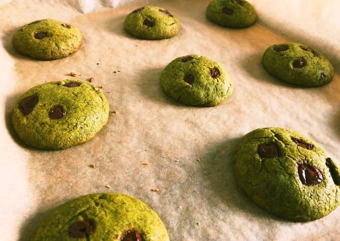 Mochi matcha cookies