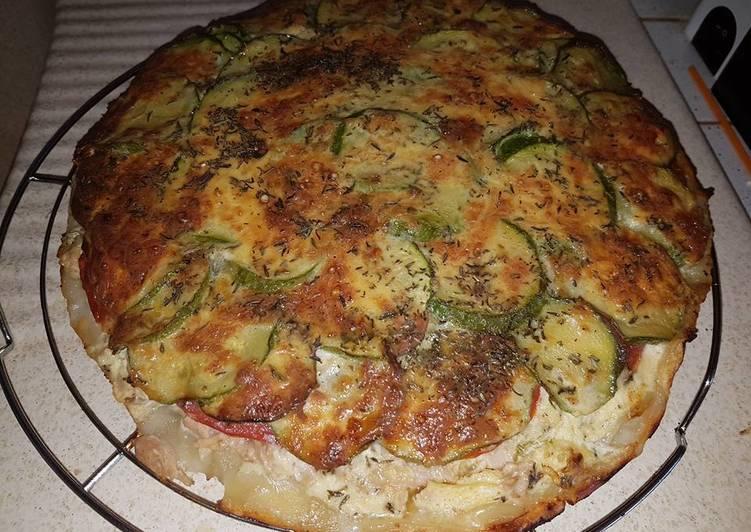 Tarte courgettes tomates thon