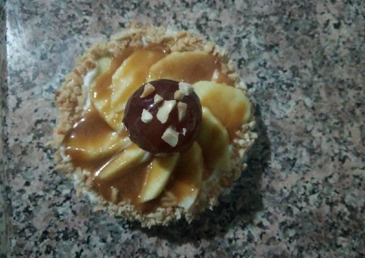 Mini tarte à la sauce toffin et pommes