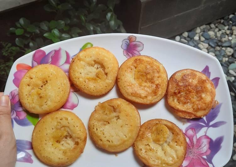 kue cubit crepe pisang keju foto resep utama Resep Indonesia CaraBiasa.com