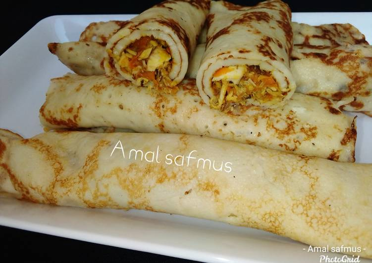 How to Make Quick Crepe rolls