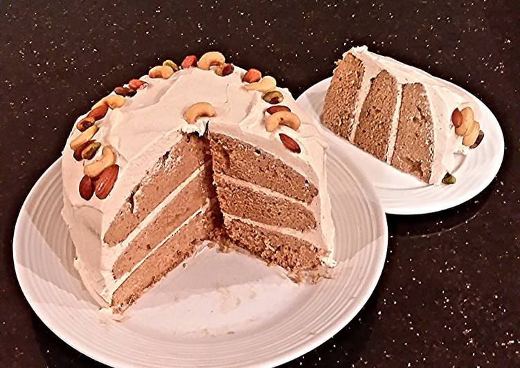 Steps to Make Quick Spice Layer Cake with Whipped Cream Apple Butter Frosting / Filling