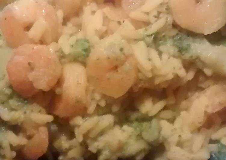 Easy Shrimp Rice and Broccoli