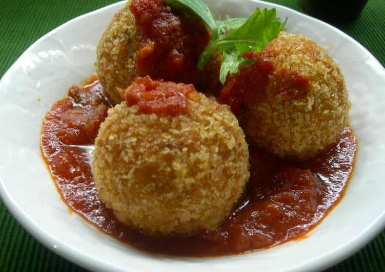 Recipe: Yummy Naples Style Rice Croquettes (Arancini)