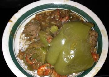 Easiest Way to Cook Delicious Angies Crawfish Stew With Stuffed Bell peppers