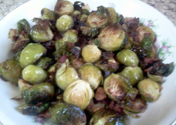 Recipe of Quick Bacon Roasted  Brussel Sprouts