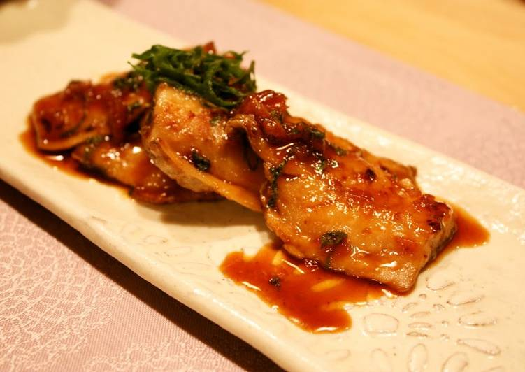 Horse Mackerel Grill with Ume-Shiso Sauce