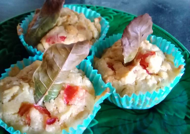 How to Make Ultimate Red pepper and pine nut cupcake