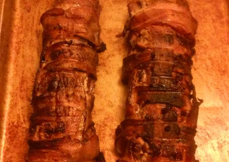 Bacon wrapped venison backstrap