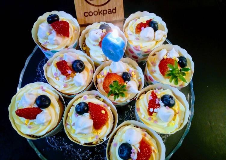 Cupcakes cítricos para cumpleaños!!