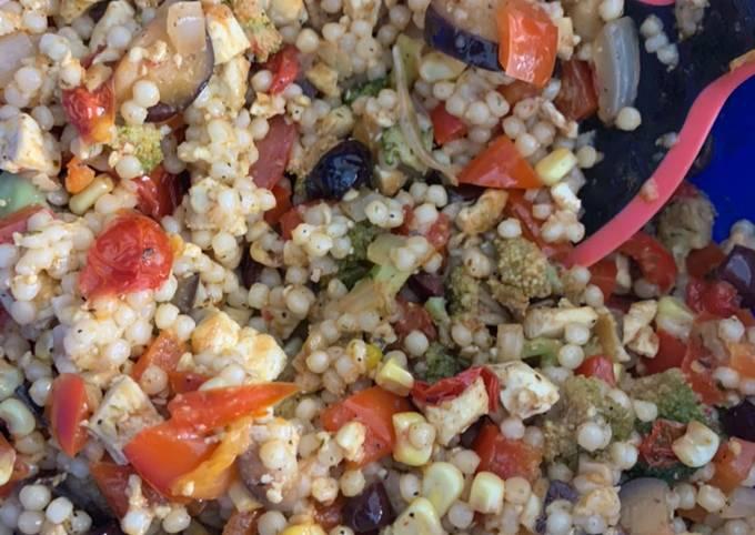 Mediterranean Tofu Couscous