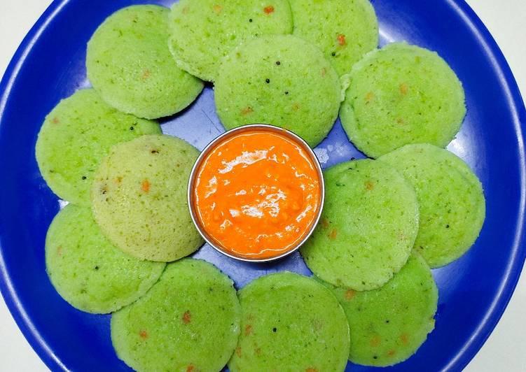 Recipe of Homemade Green peas idli