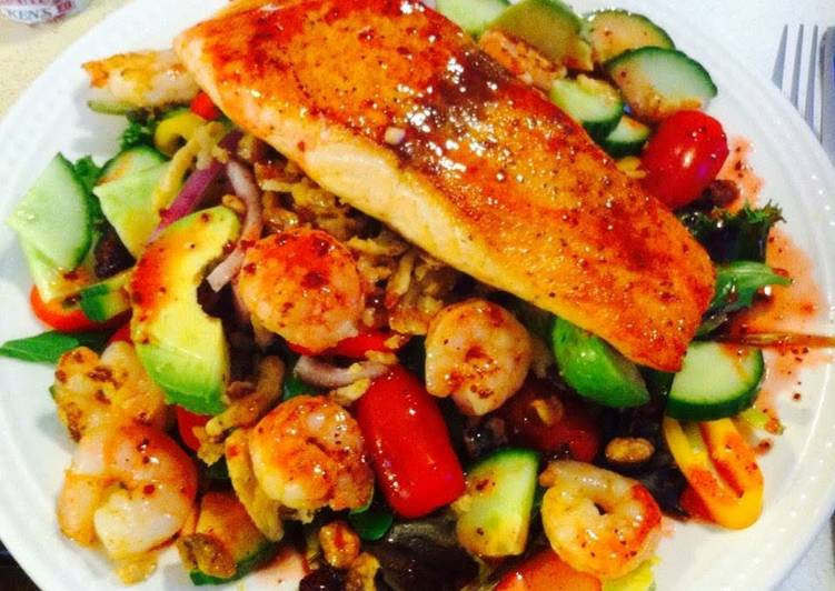 How to Cook Delicious Salmon With Shrimp Cold Salad