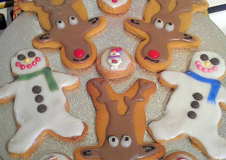 Vickys Gingerbread Snowmen & Reindeer, Decorating Idea