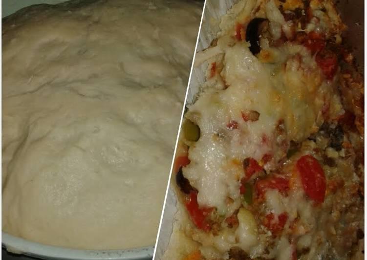 15 Minute Recipe of Homemade PIZZA dough!