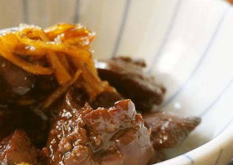 Sweet & Savory Stewed Chicken Liver