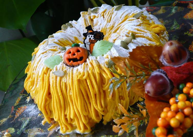 Recipe of Any-night-of-the-week Halloween Kabocha Squash Mont Blanc