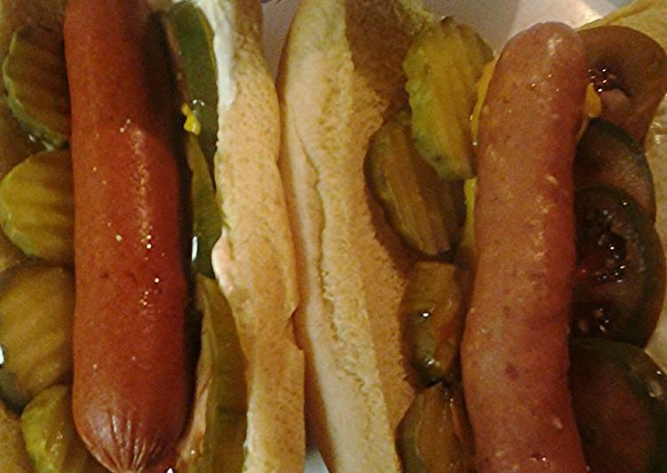 Chicago inspired hotdogs