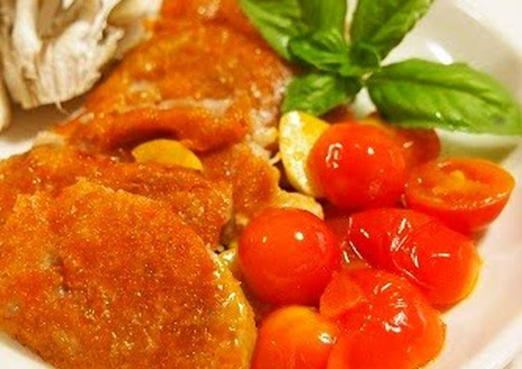 Recipe of Perfect Easy Low-Cal Crispy Pork Tenderloin Cutlets with Cheese