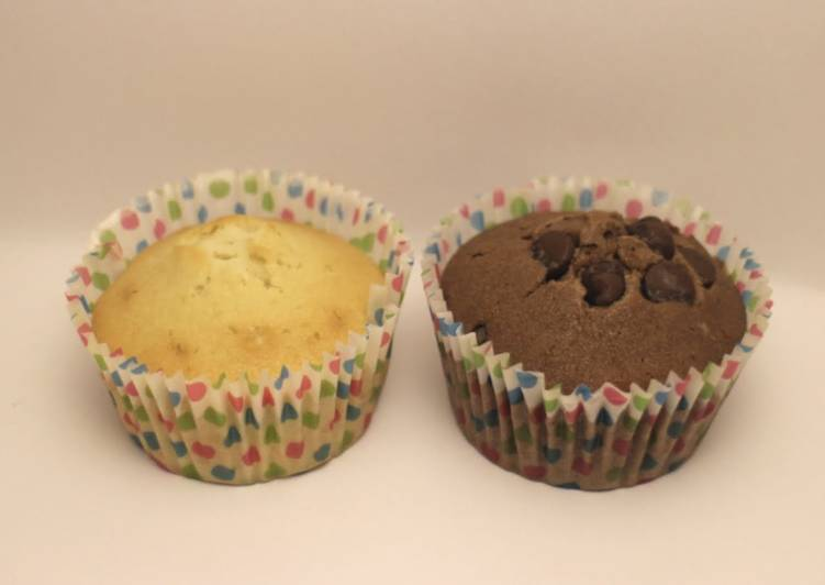 Step-by-Step Guide to Prepare Ultimate Easy Vanilla and chocolate cupcakes
