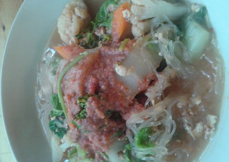 Easiest Way to Make Top-Rated Thai sukiyaki with red bean curds sauce