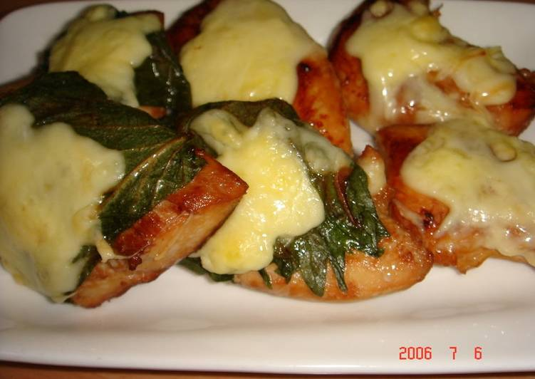 Your Health Can Be Impacted By The Foods You Choose To Eat Chicken Tenders With Garlic Soy Sauce Shiso Leaves and Cheese