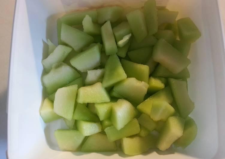 Frozen melon bites