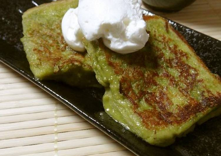 Just Mix and Cook: Matcha French Toast