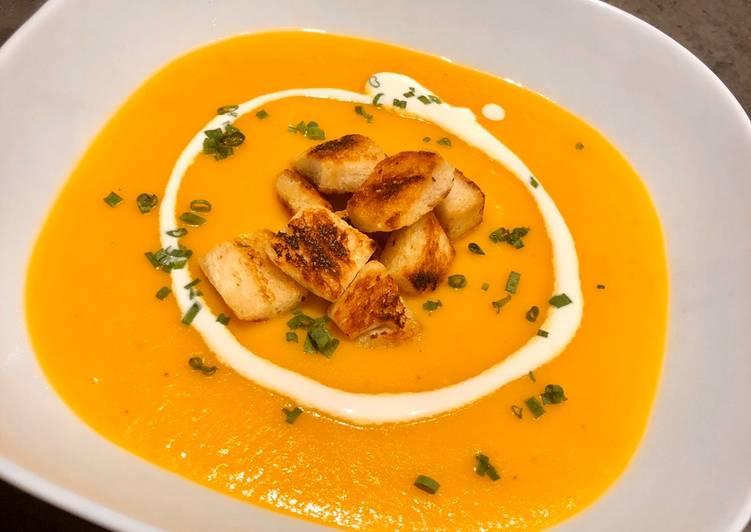 Crema de patatas, puerro y zanahorias en Thermomix
