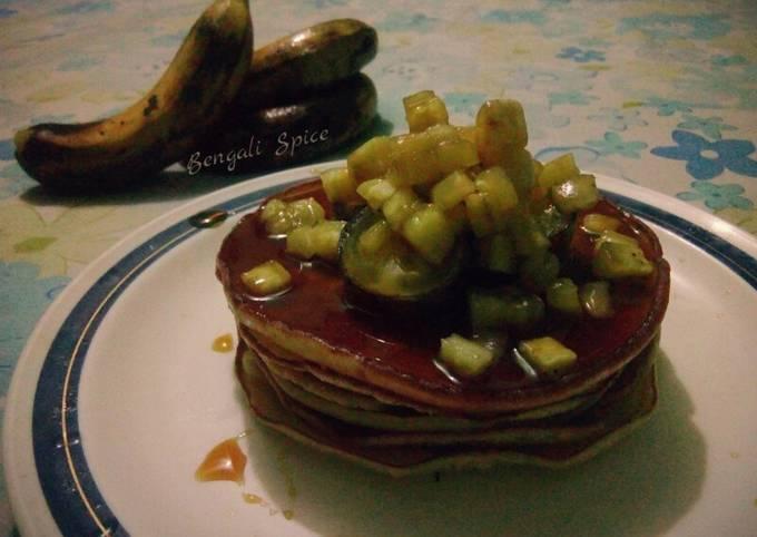 Caramel-Banana Pancakes 🍳