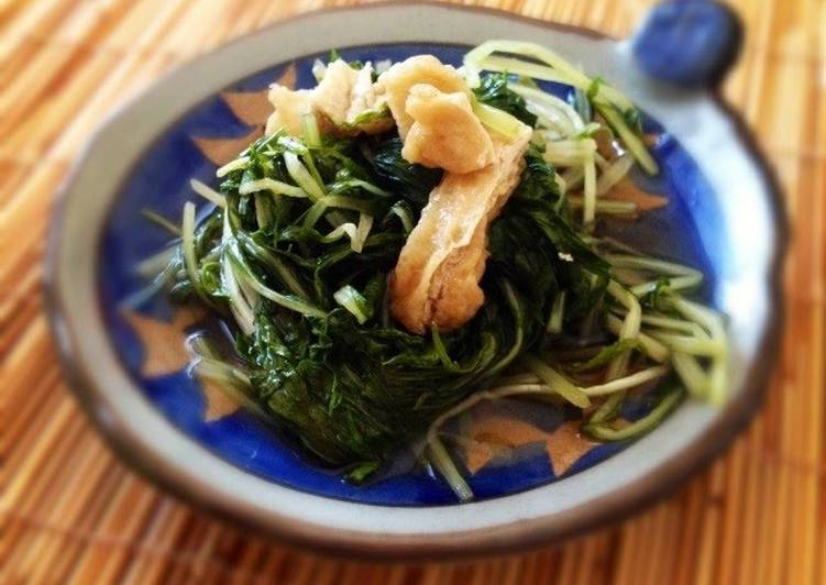 How to Make Any-night-of-the-week Simmered Mizuna and Aburaage in Sauce