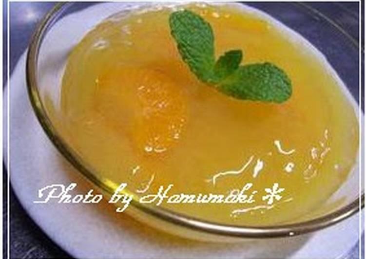 Orange Juice Agar Jello