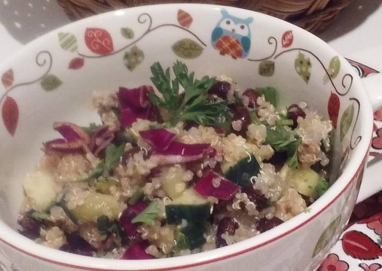 Easiest Way to Prepare Super Quick Homemade Clean N' Easy Quinoa Salad