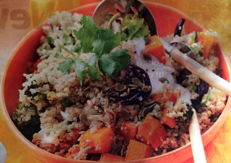 Dukkah-roasted Veggie Quinoa Salad