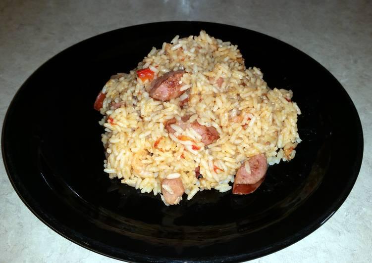Jambalaya w/sausage, shrimp and ham