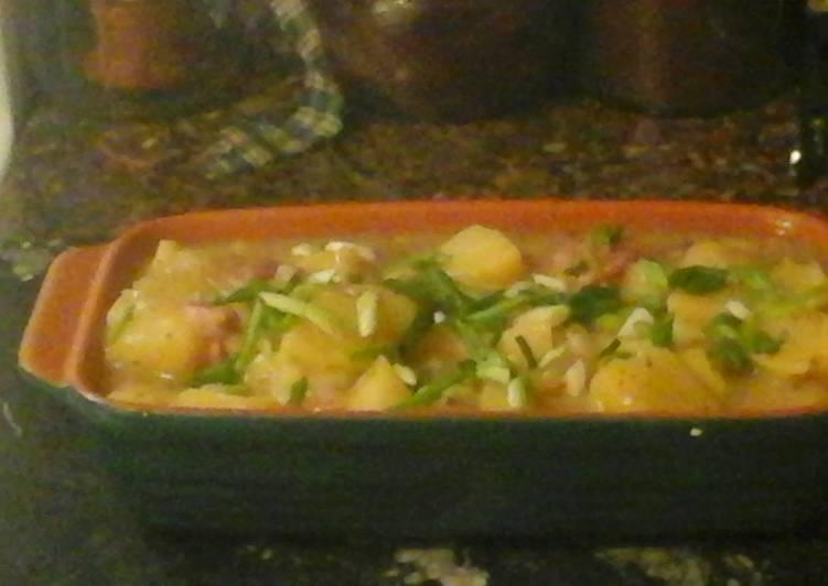 Microwave Hot German Potato Salad