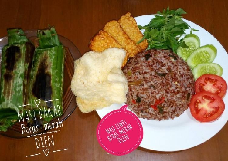 Nasi liwet beras merah VS nasi bakar beras merah #masak magicom