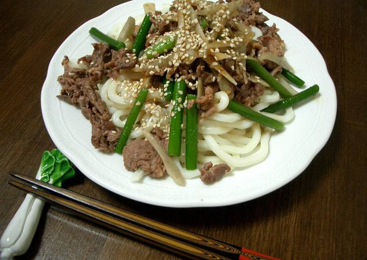 How to Make Ultimate Udon Noodles With Meat In Only 3 Minutes