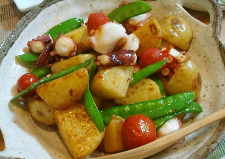 Sautéed Potatoes and Octoupus