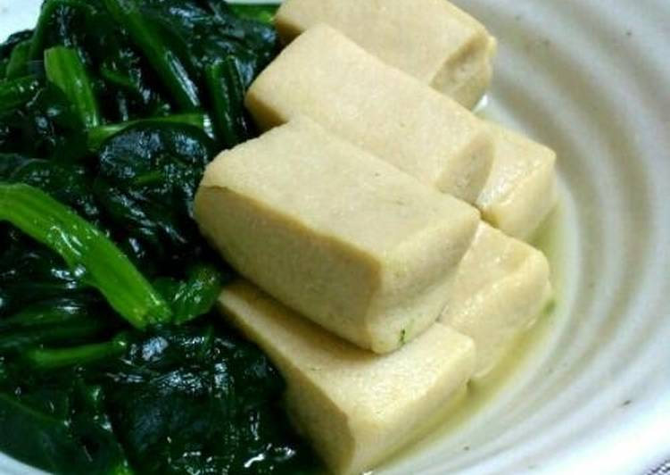 Delicious Stewed Freeze-Dried Tofu and Spinach
