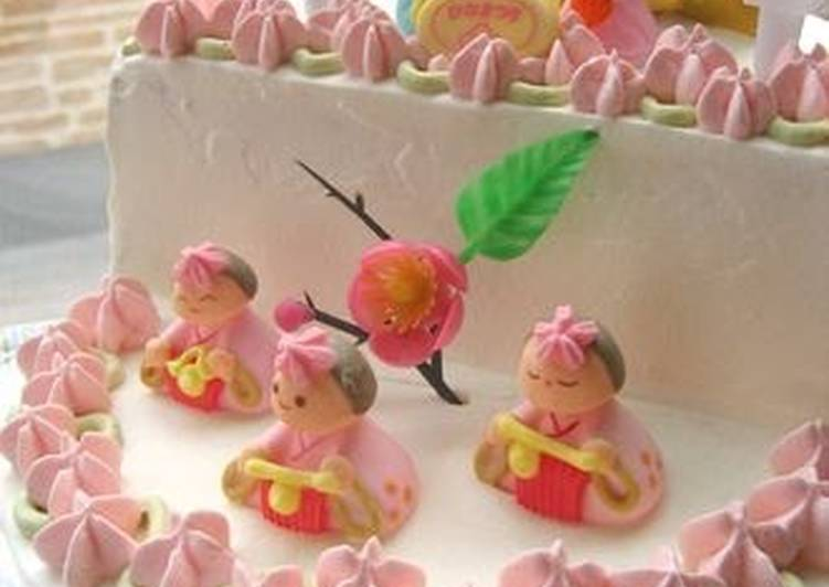 Use Food to Improve Your Mood Doll Platform Cake (2 & 3 Tier) for Girl's Day