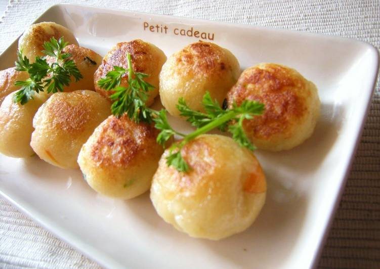 Chewy Okara and Potato Balls - Laurie G Edwards