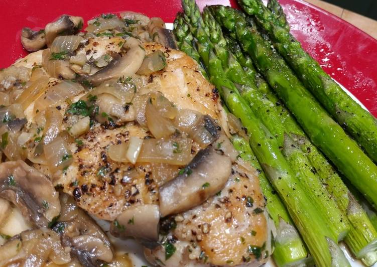 Steps to Make Any-night-of-the-week Pan Seared Chicken with Mushroom & Herb Sauce