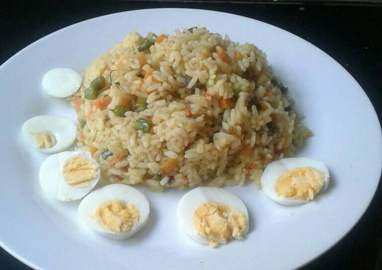 Chopped meat fried rice