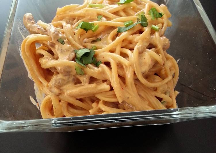 Easiest Way to Make Perfect Chipotle steak pasta