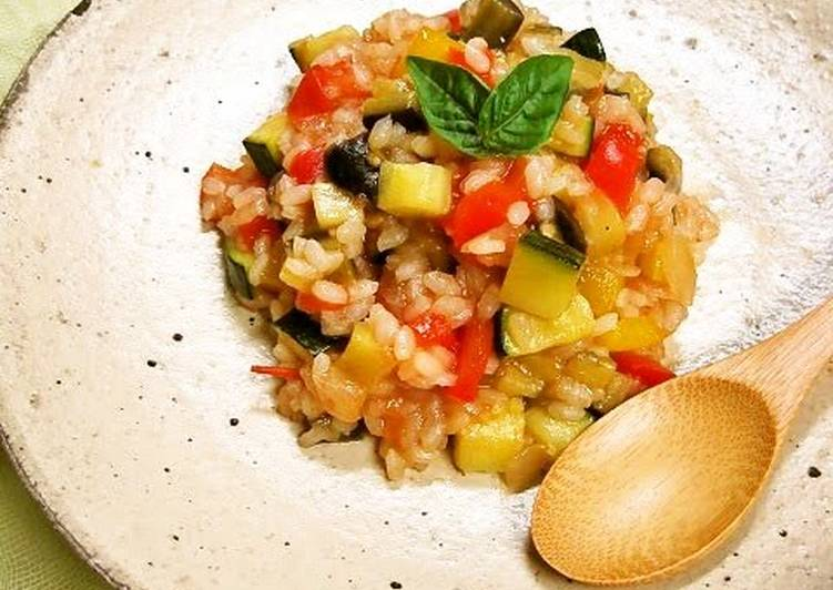Chunky Risotto with Summer Vegetables